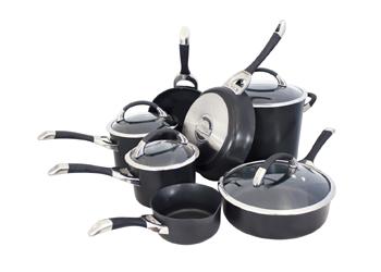 Symmetry 11-Piece Cookware Set - Black