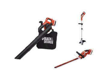 Sweeper/Vacuum, Hedge Trimmer and Strong Trimmer Bundle