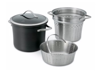 Contemporary Nonstick 8-Quart Multi Pot with Steamer