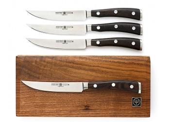Ikon 4-Piece Steak Knife Set with Walnut Box