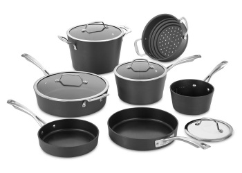 Conical Hard Anodized 11-Piece Cookware Set