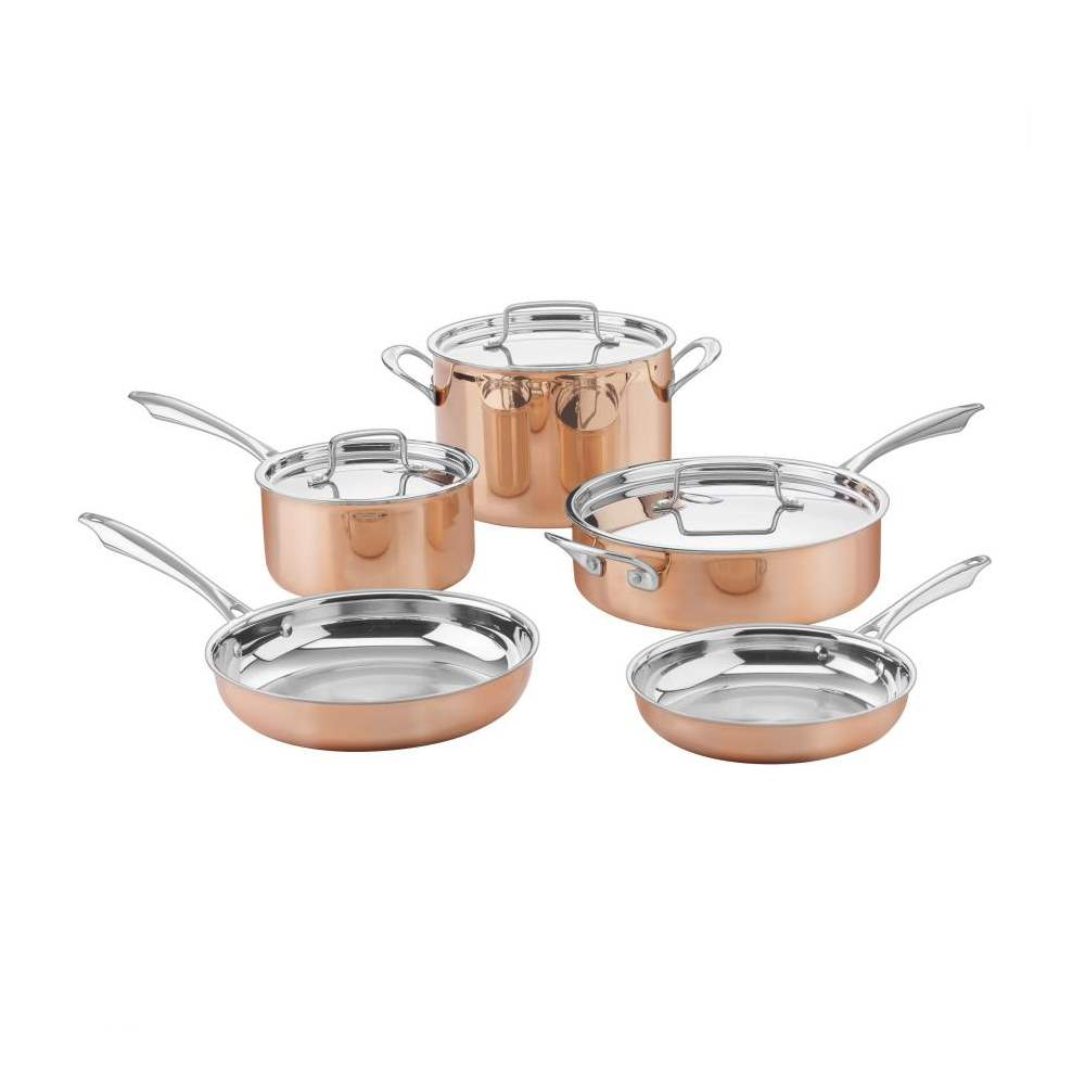 8-Piece Copper Collection Tri-Ply Cookware Set