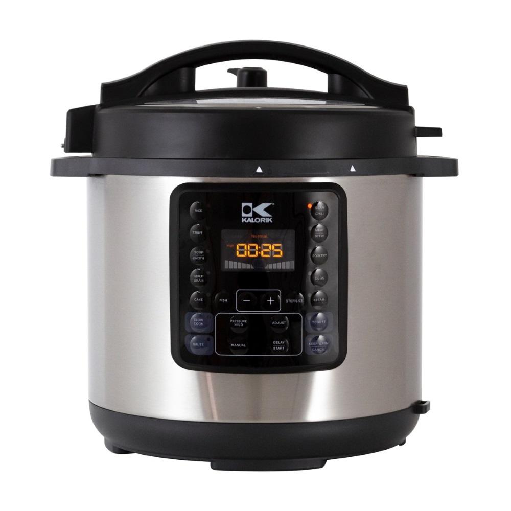 6-Liter Pressure Cooker - Black/Stainless Steel