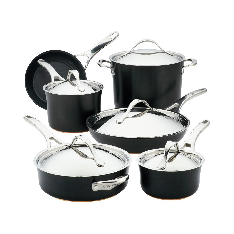 Nouvelle Onyx Copper 11-Piece Cookware Set