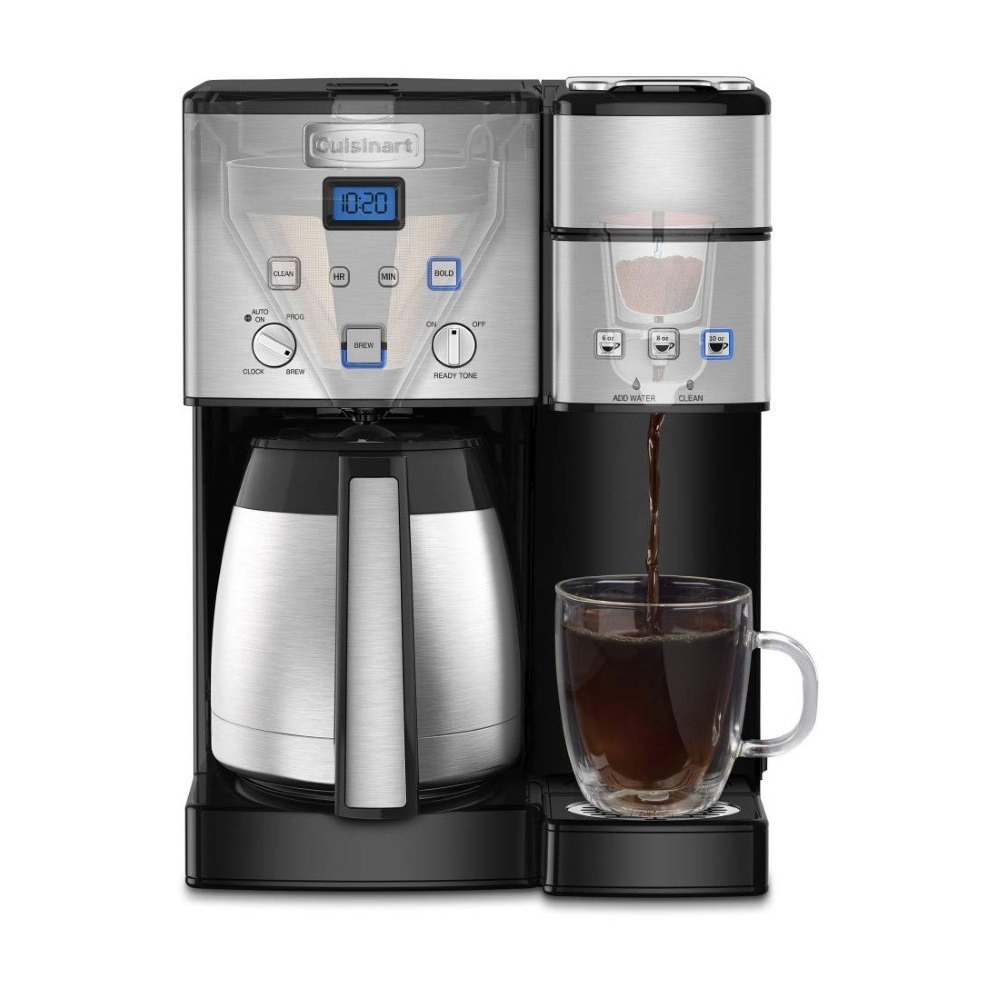 10-Cup Thermal and Single-Serve Brewer - Stainless Steel