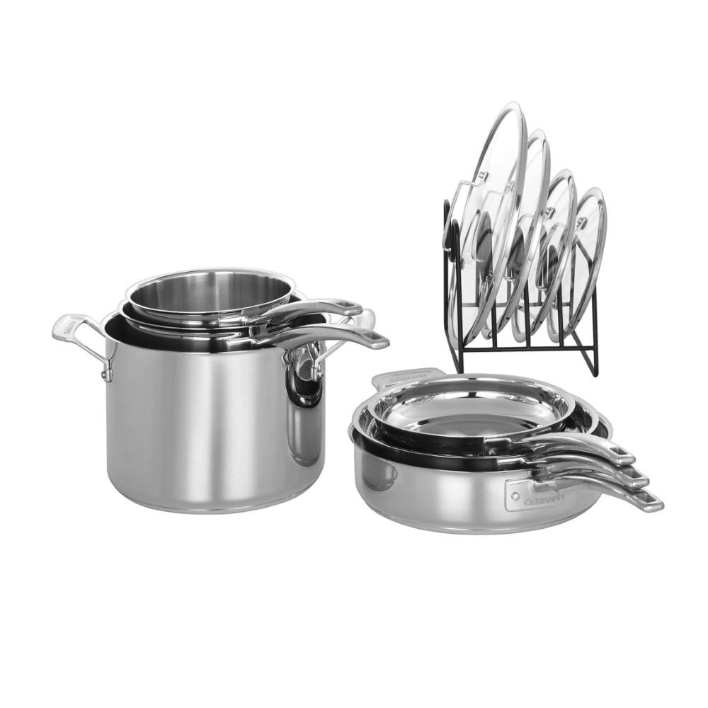 11-Piece Smart Nest Stainless Steel Cookware Set