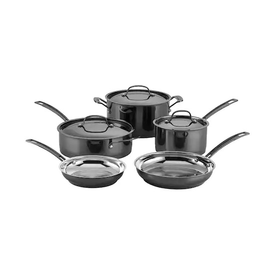 8-Piece Mica Shine Cookware Set