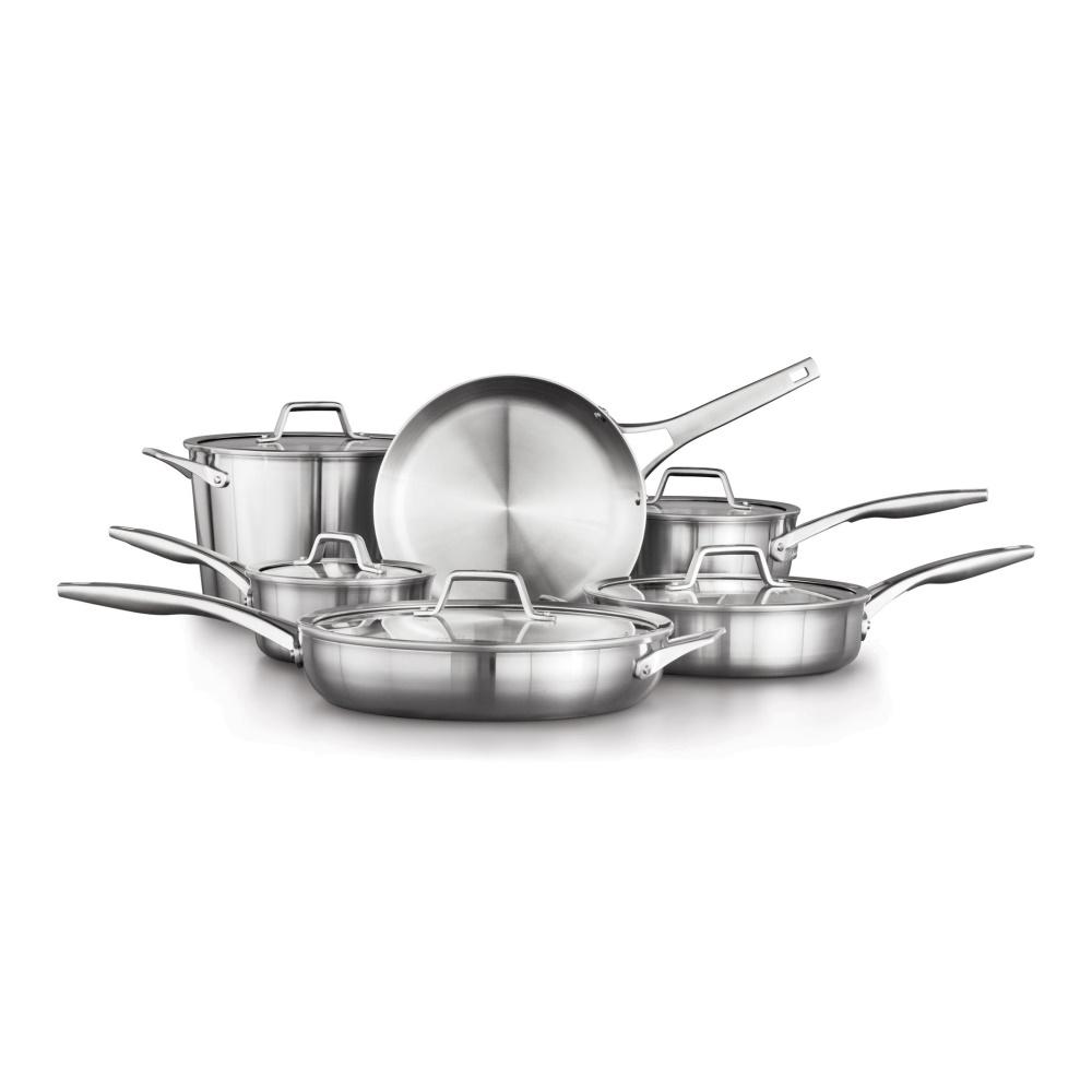 11-Piece Premier Stainless Steel Cookware Set