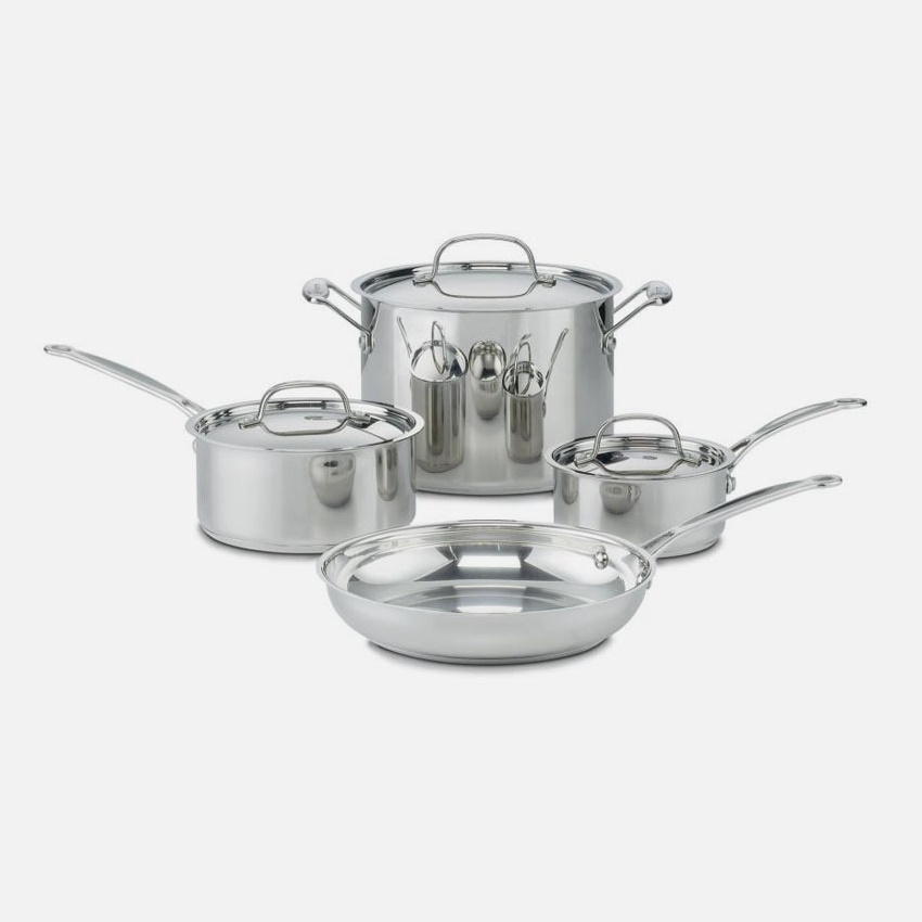 7-Piece Chef's Classic™ Stainless Steel Cookware Set