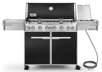 Summit E-670 Gas Grill - Natural Gas/Black