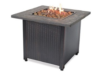 Endless Summer Liquid Propane Gas Outdoor Fireplace with Resin Mantel