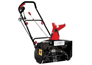 "18"" Electric Single Stage Snow Thrower - Red"