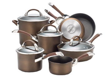 Symmetry Chocolate 11-Piece Cookware Set